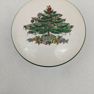 "Vintage SPODE ""Christmas Tree"" Round Covered ceram"